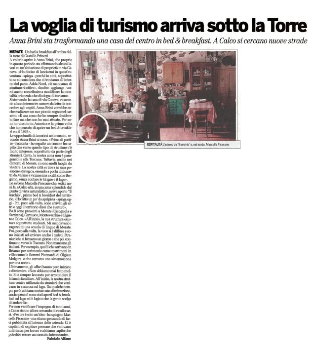 articolo_la provincia_11 agosto 2009